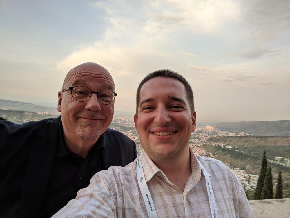 Я с Axel Pawlik - управляющий директор RIPE NCC с 1999г.
