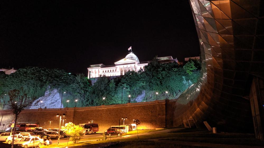Президентский дворец. Вид из парка Рике. (кликабельно)
