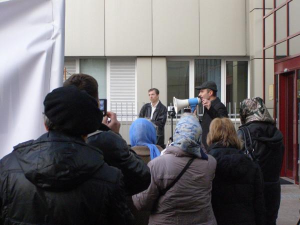 Председатель ХООО Русь Триединая Сергей Моисеев выступил от общественности Харькова
