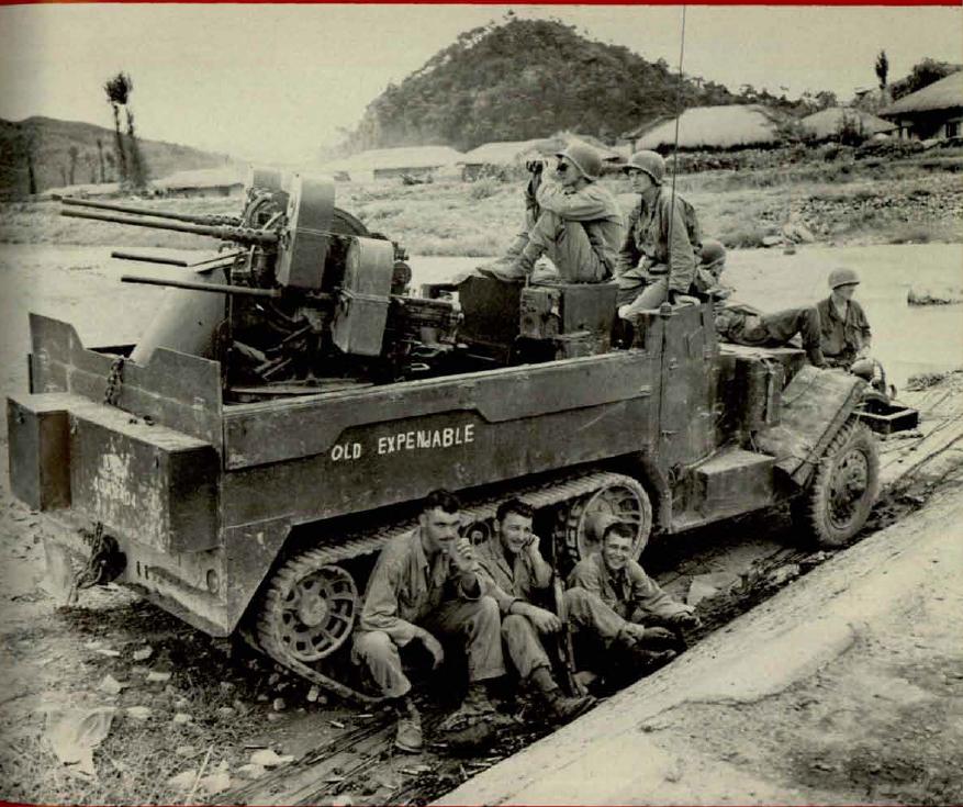самоходная ЗПУ М-16 (квад фифти (quad '50) на американском армейском жаргоне)