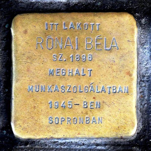 600px-Rónai_stolperstein_Budapest09