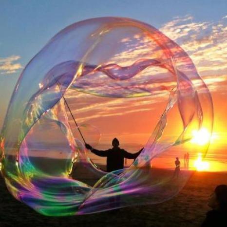 buborék naplemente