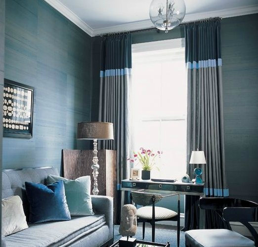 living-room-with-blue-navy-gray-curtains