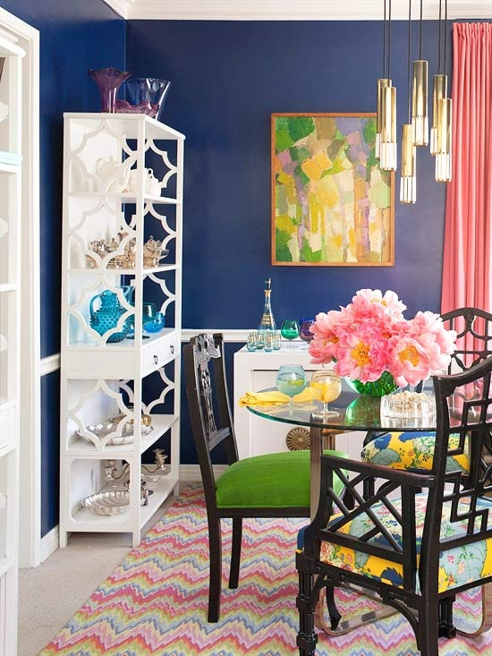 Navy-dining-room-with-pink-green-etc1