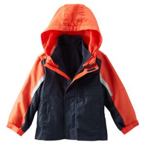 Куртка OshKosh, 4в 1, внутри флис отстегивается получается тонкая ветровка и флисовый жакет, размер 3Т, цена 1700