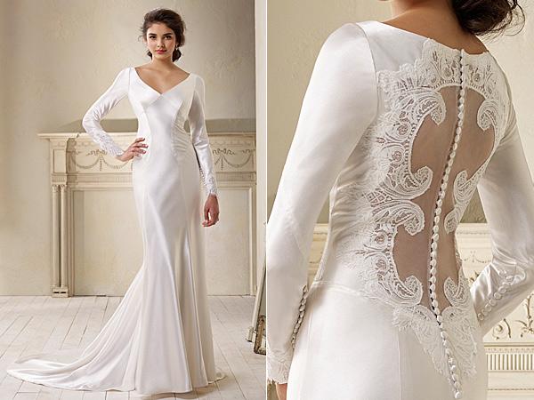 Свадебное платье в сумерках