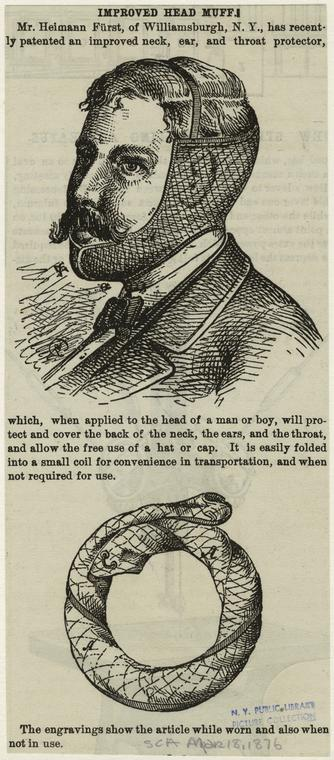 Improved head muff. (1876)