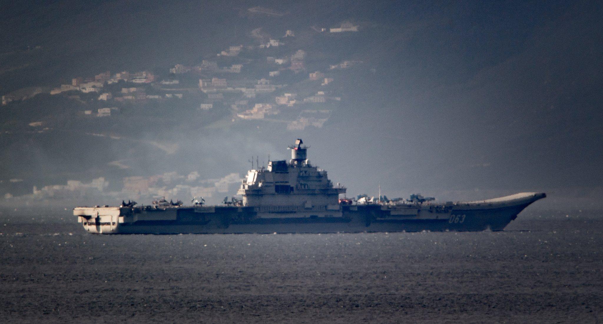 """""""Адмирал Кузнецов"""" в Гибралтарском проливе"""