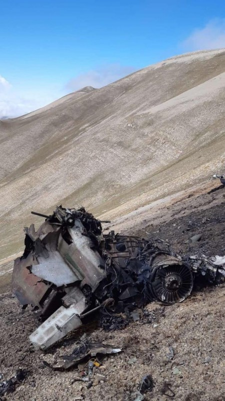 Сбитый армянский Су-25 майора Валерия Данелина