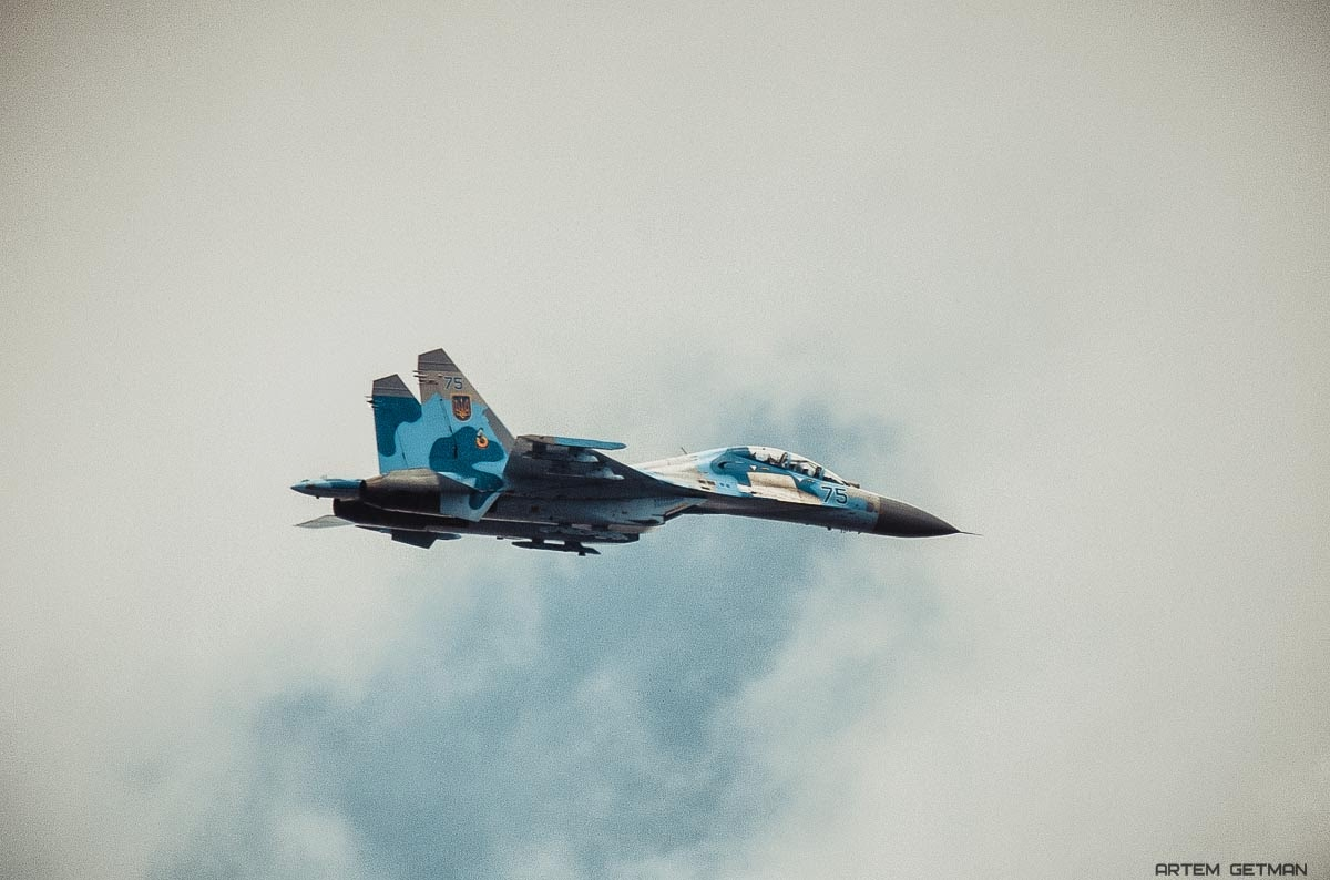 UkrAF Su-27UB - Over East-001