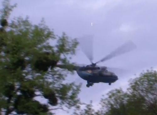 UkrAF Mi-8 N61 damaged 2-05-2014-008