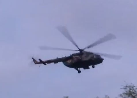 UkrAF Mi-8 N61 damaged 2-05-2014-009