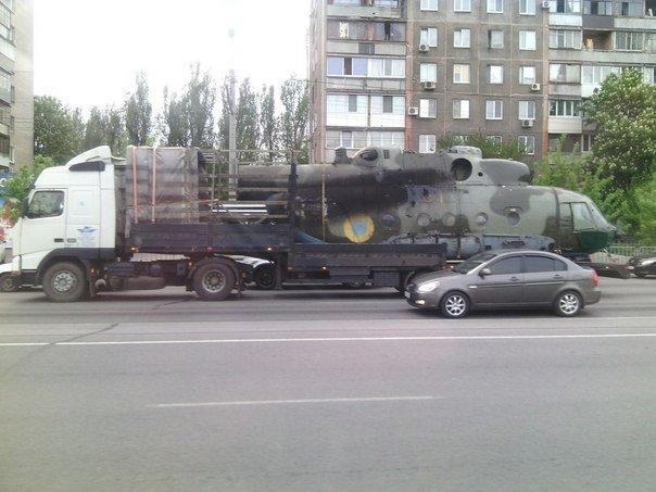 UkrAF Mi-8 N61 damaged 2-05-2014-003