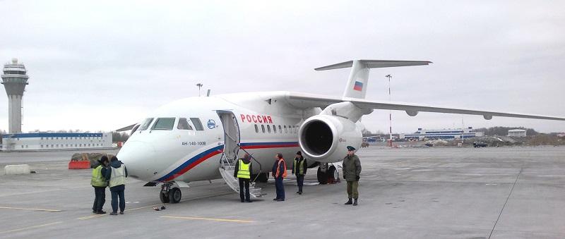 Ан-148 — ближнемагистральный узкофюзеляжный пассажирский самолёт. Разработан в АНТК им. Антонова.