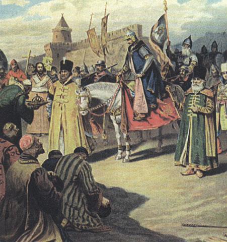 Взятие казани . П. Коровин