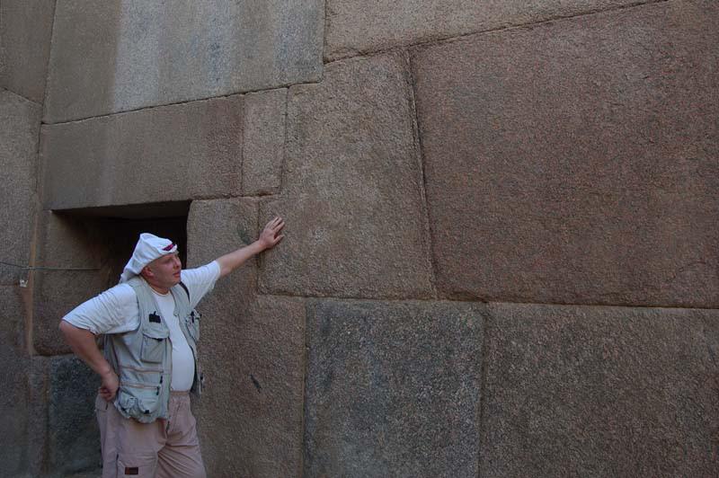 Египет.Фрагмент кладки Гранитного храма на плато Гиза