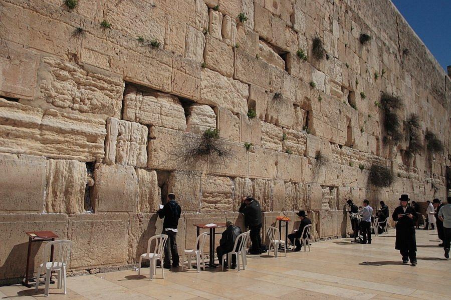 Иерусалим. Стена плача. Пустоты