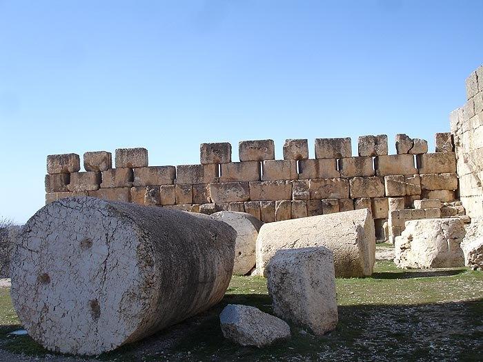 баа остатки кругл колонны с отверстиями крепления