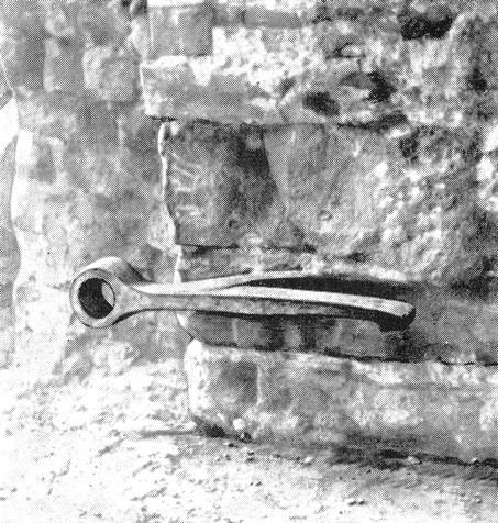 Никольская башня. Проушина подъемного механизма подъемного моста 1960 г.
