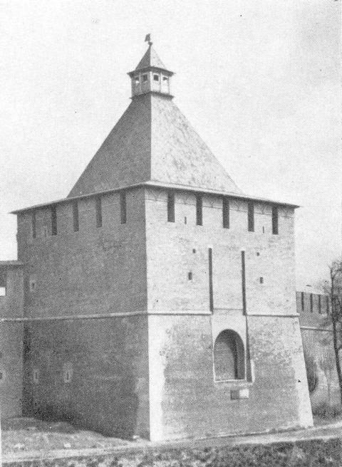 Никольская башня после реставрации 1965 года