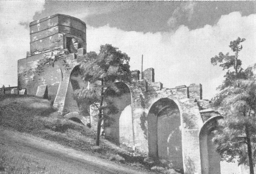 Часовая башня до реставрации. 1952 г.