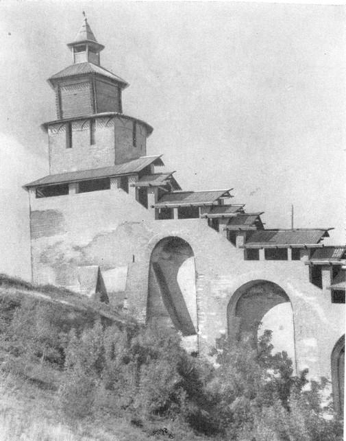 Часовая башня после реставрации. 1963 г.