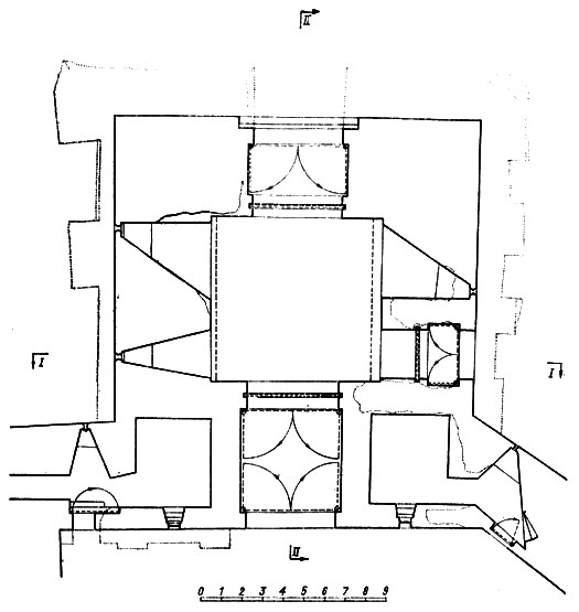 Ивановская башня, план первого яруса.