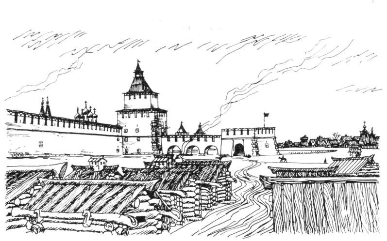 Дмитровская башня. Рисунок