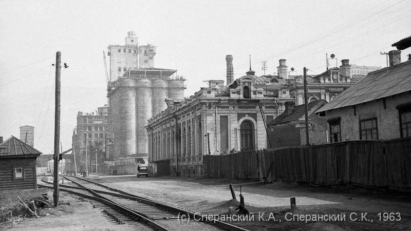 Ромодановский вокзал и элеватор. 1963г