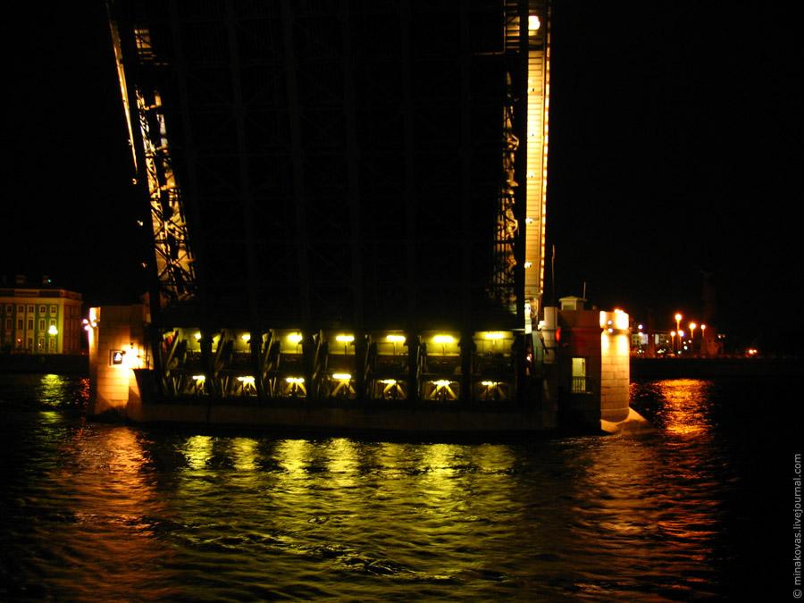 Дворцовый мост ночь