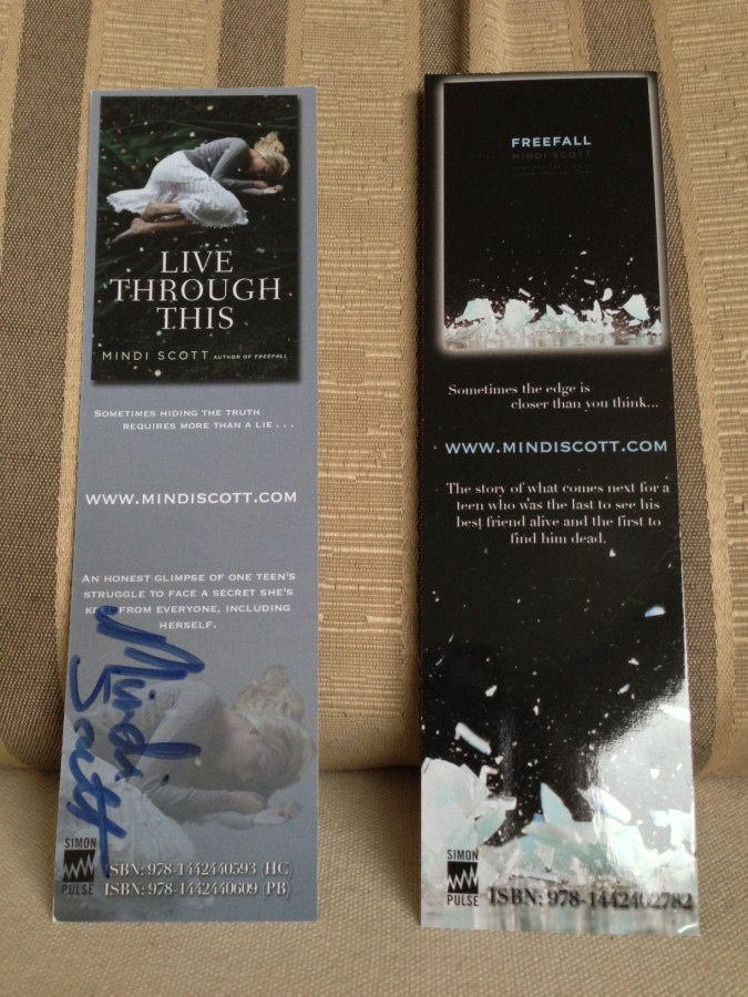 LIVE THROUGH THIS/FREEFALL bookmarks