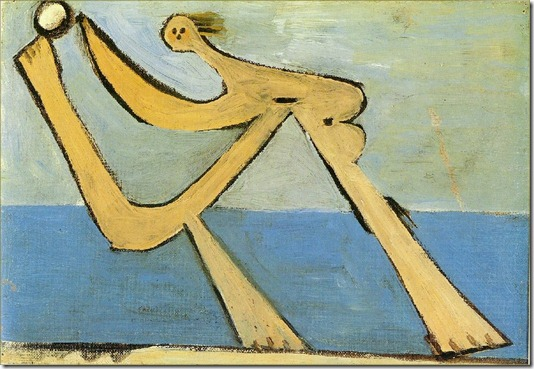 Picasso Baigneuse. 15-August 1928. 24.5 x 35 cm. Oil on canv
