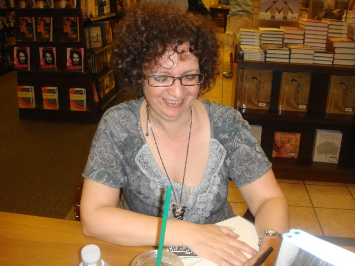 Joyce at a book signing