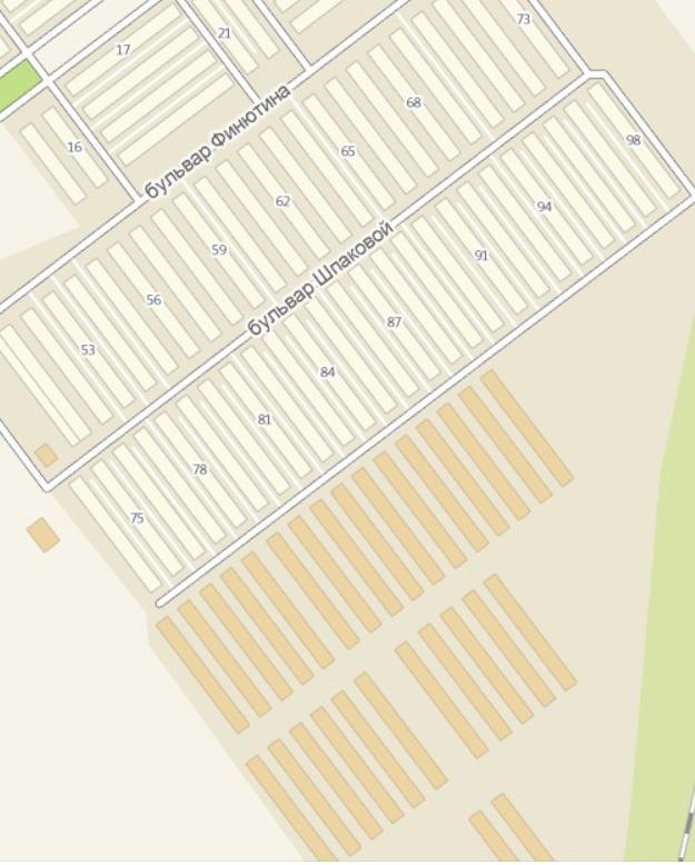 Схема жилого района из 2Gis