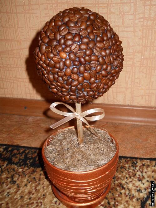 Кофейное дерево сделано своими руками фото 914