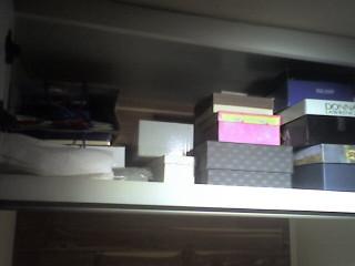 My box shelf, organized.