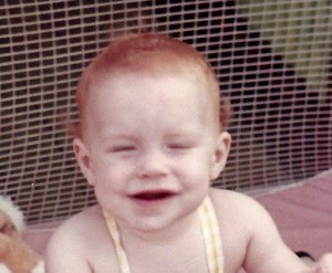 A baby picture of me that shows off how orange my hair was.