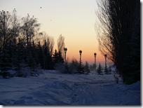 Снежная дорога красива, но очень коварна