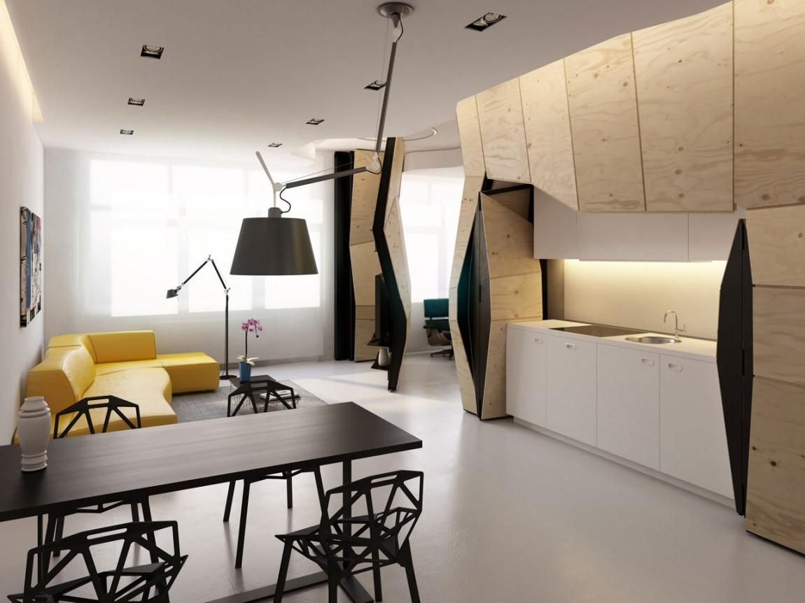 Дизайн малогабаритной квартиры-студии фото(1)