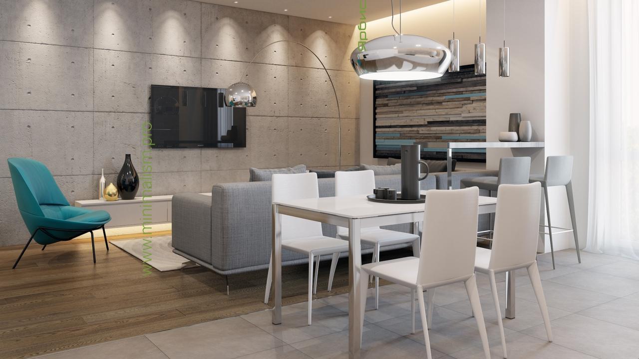 Дизайн трехкомнатной квартиры в стиле минимализм фото