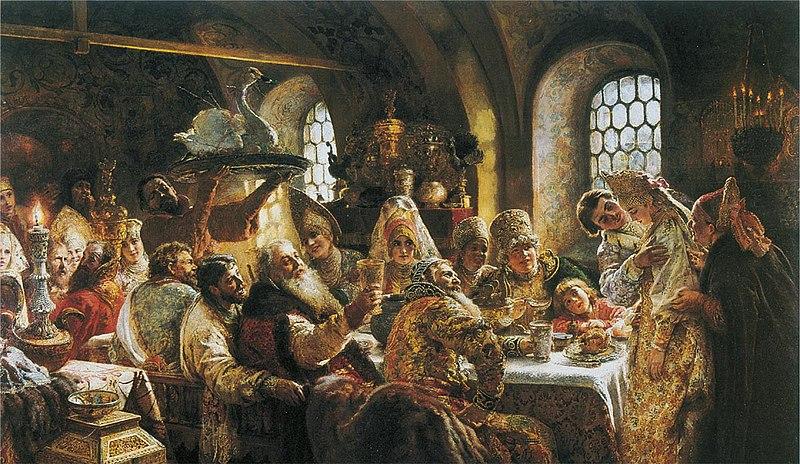 Будто иллюстрация из русских сказок - боярская свадьба XVII века