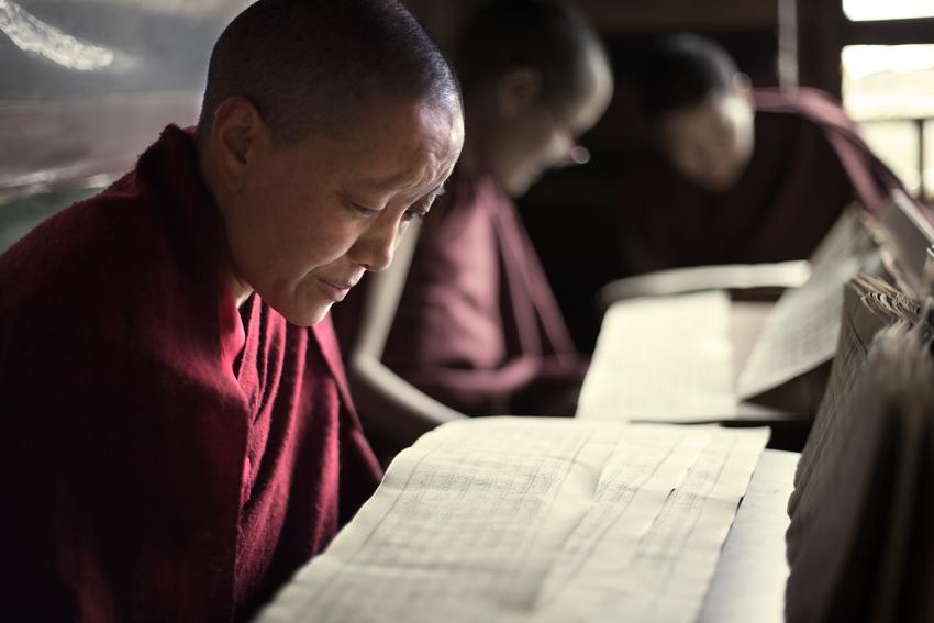 женский монастырь в Лхасе