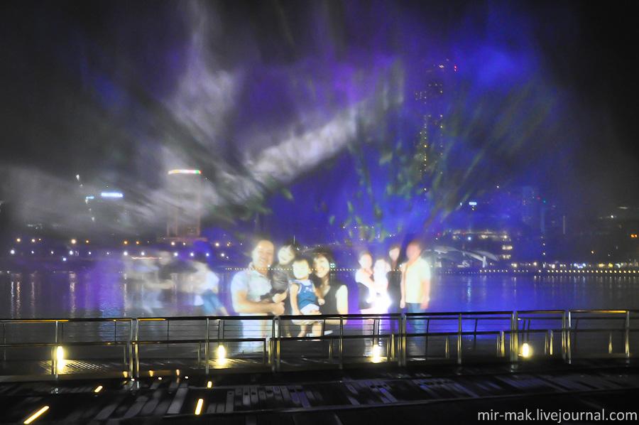 Феерическое лазерное шоу Marina Bay Sands+ ночной Сингапур.