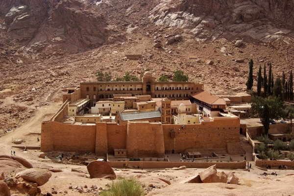 монастырь святой Екатерины сверху