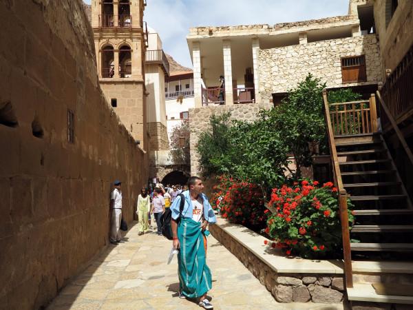 паломник в монастыре святой Екатерины