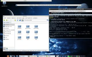 Archlinux+Openbox+Fbpanel+Sakura+Pcmanfm