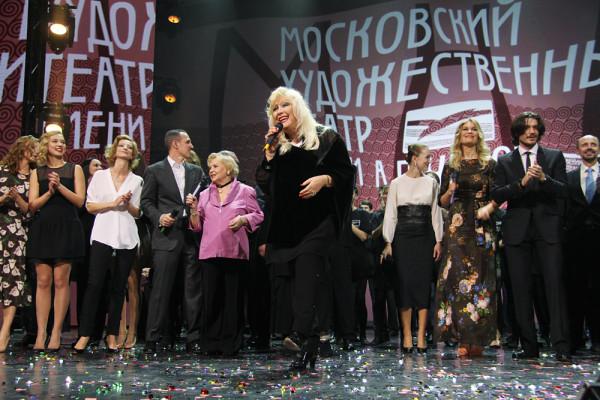 Ирина Мирошниченко на 70-летнем юбилее Школы-студии МХАТ