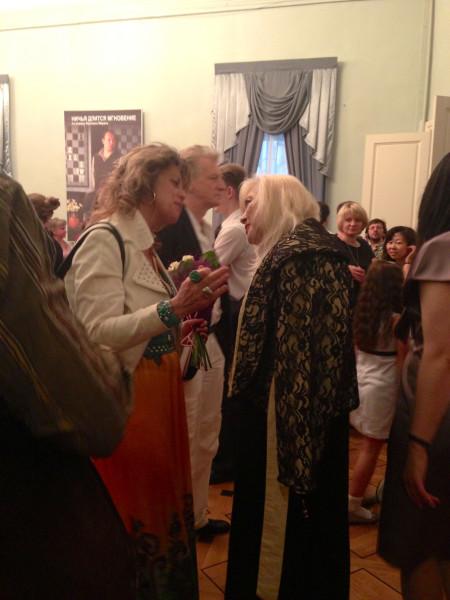 Любовь Казарновская и Ирина Мирошниченко. Май 2013.