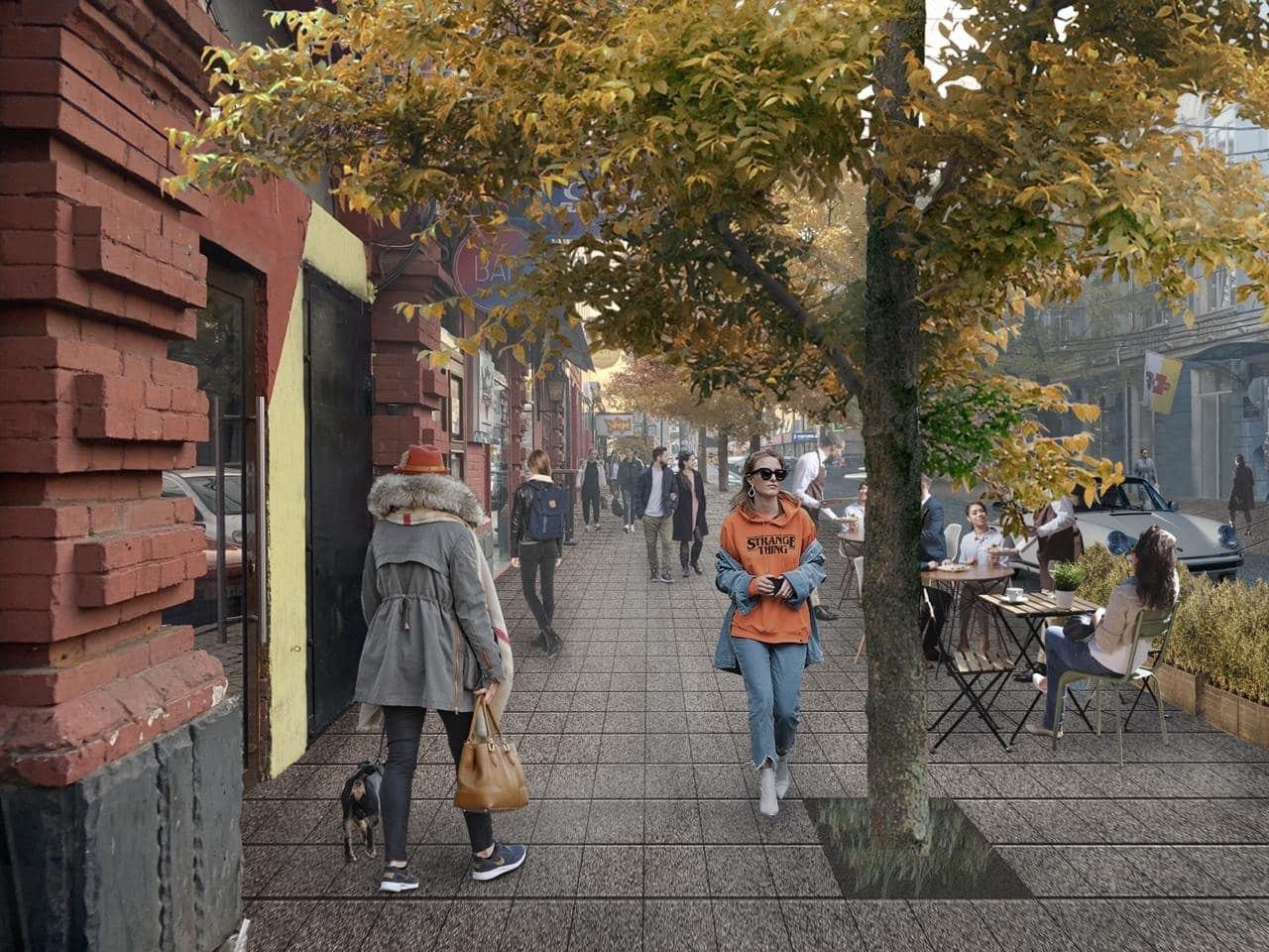 Предложенная визуализация реконструкции ул.Красноармейской от Натальи Машталир