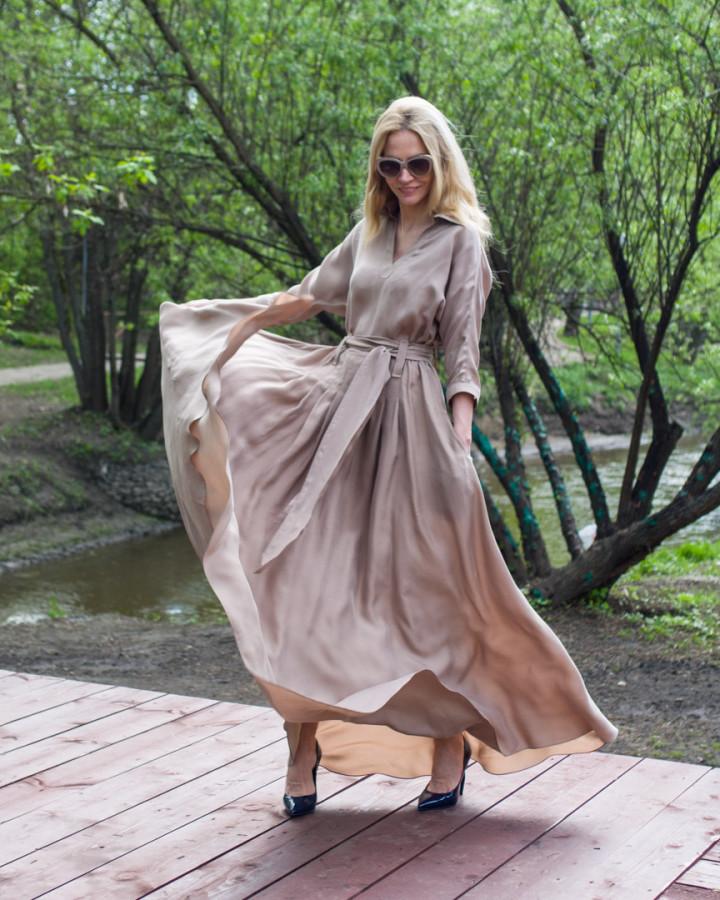 """Платье из шелка """"washed"""""""